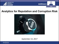 Analytics for Reputation and Corruption Risk