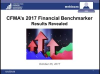 CFMA's 2017 Financial Benchmarker Results Revealed