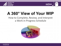 360° View of Your WIP - Part 2