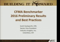 CFMA Benchmarker 2016 Preliminary Results and Best Practices