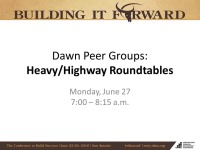 Heavy/Highway Roundtables