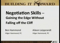 Negotiation Skills - Gaining the Edge Without Falling Off the Cliff