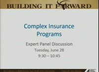 Advanced Session - Accounting for Complex Insurance Programs