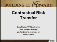 Advanced Session - Contractual Risk Transfer