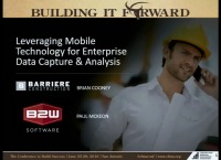 Leveraging Mobile Technology for Enterprise Data Capture & Analysis