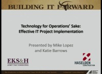Technology for Operations' Sake: Effective IT Project Implementation